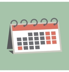 Agenda paper icon of the calendar with one month vector image vector image