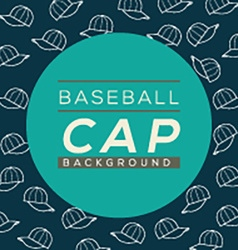 Baseball caps background vector