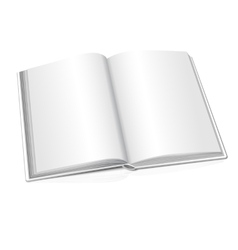 Blank opened realistic book on white vector image vector image