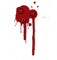 Gunshot Blood Background Royalty Free Vector Image
