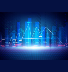 blue abstract technology and stock market concept vector image