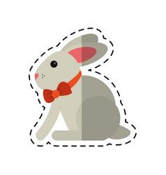 Cartoon easter bunny cute symbol vector