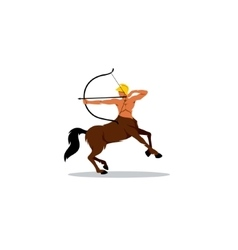 Centaur archer sign vector image vector image