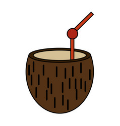 Coconut exotic drink vector