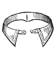 Collar worn round the neck vintage engraving vector