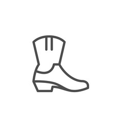 cowboy boot line icon vector image