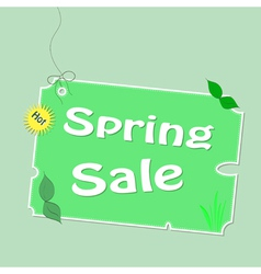 Discount spring labels vector image vector image