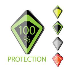 futuristic shield vector image