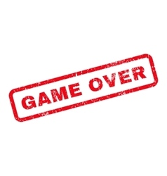Game over text rubber stamp vector