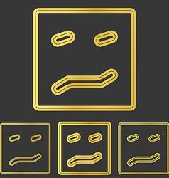 Golden line fear logo design set vector