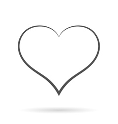 Grey Heart Icon isolated on white vector image vector image
