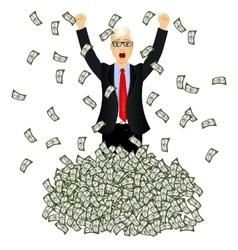 happy rich successful businessman vector image