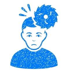 Headache grainy texture icon vector