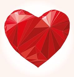 Heart origami vector image vector image