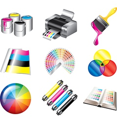 Icons print vector