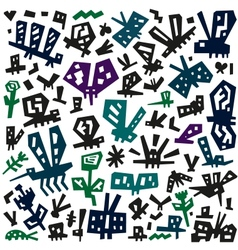 insects doodles vector image vector image
