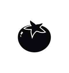 isolated love apple icon tomato elemen vector image vector image