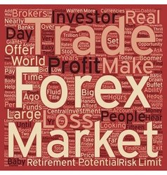 Just who trades forex currencies text background vector