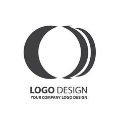 Logo circle design black color vector