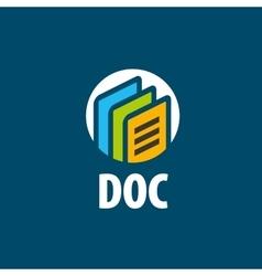 logo document vector image vector image