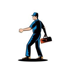 Mechanic tradesman repairman vector