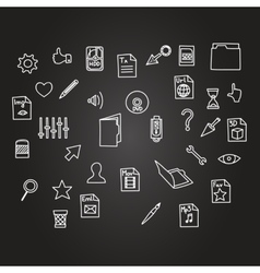 Misc file and cursor computer technology icon vector