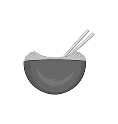 Noodles with chopsticks icon vector image