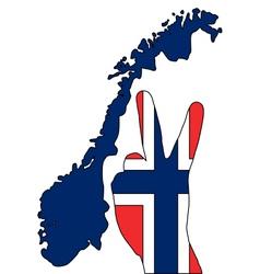 Norwegian hand signal vector