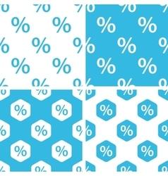 Percent patterns set vector