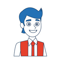 Portrait man young character person avatar vector