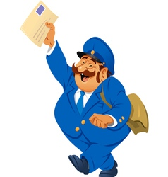 postman with letters vector image vector image