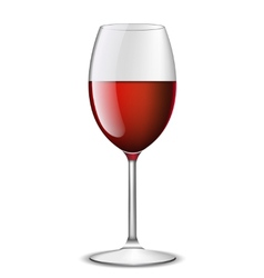realistic red wine in glass isolated vector image vector image