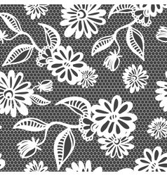 Seamless floral vintage lace background vector image vector image