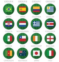 Soccer flag icons vector
