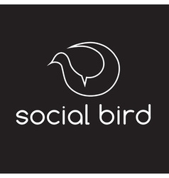 Social bird concept design template vector