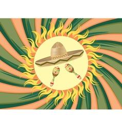 Sombrero and Maracas3 vector image