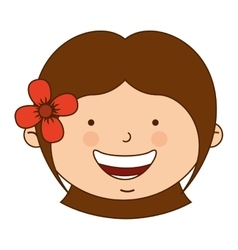 Spanish girl character icon vector