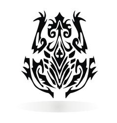 Trbal Frog Design vector image vector image