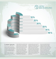 vintage infographics set vector image vector image