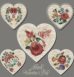 Vintage style valentines day design vector image vector image
