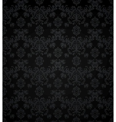Wallpaper pattern black seamless vector image