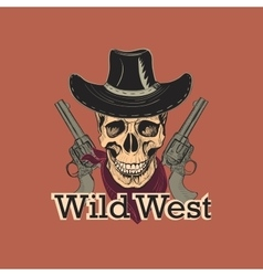 Wild west emblem vector image