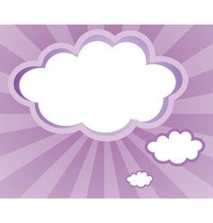 An empty space in a cloud form vector