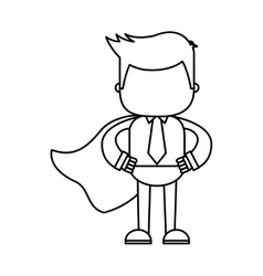 businessman funny with hero layer character icon vector image