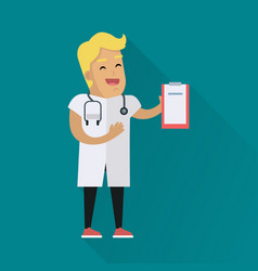 doctor at work flat style vector image
