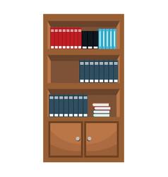 Bookshelf furniture office image vector