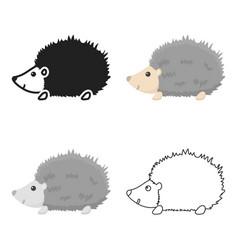 Hedgehog icon cartoon singe animal icon from the vector