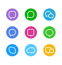 Different color web icons social media pictograms vector