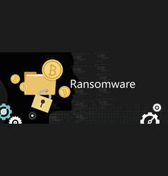 Ransomware wannacry hacker malware concept of lock vector