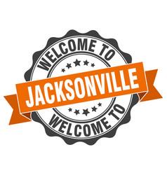 Jacksonville round ribbon seal vector